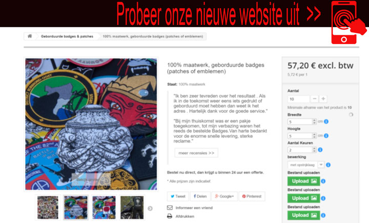 onze nieuwe website www.badges-patches.nl