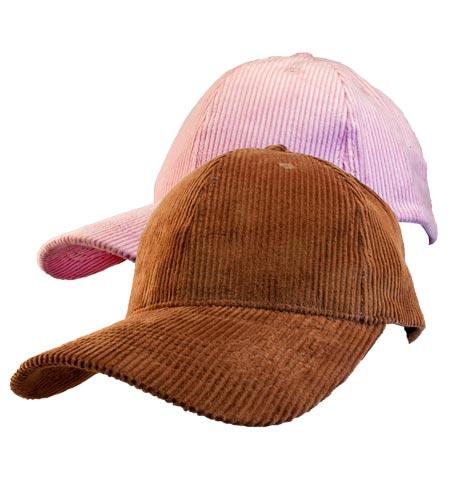 <B>Corduroy caps</B>