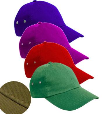 <B>Caps with metaal ventilatie gaatjes</B>