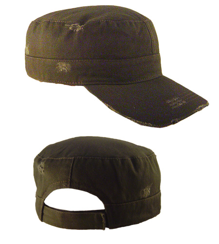 <B>army caps, washed & broken</B>