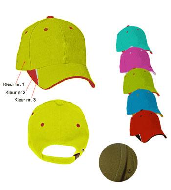 <B>Drie kleur combinatie caps</B>