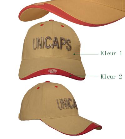 <B>Edged cap 2, twee kleur combinatie</B>