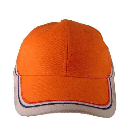 <B>baseball caps met twee borduring lijnen</B>