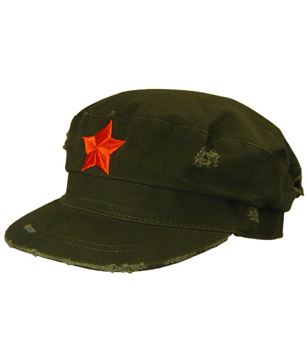 <B>Army caps, revolutionary, korte en vlakke klep</B>