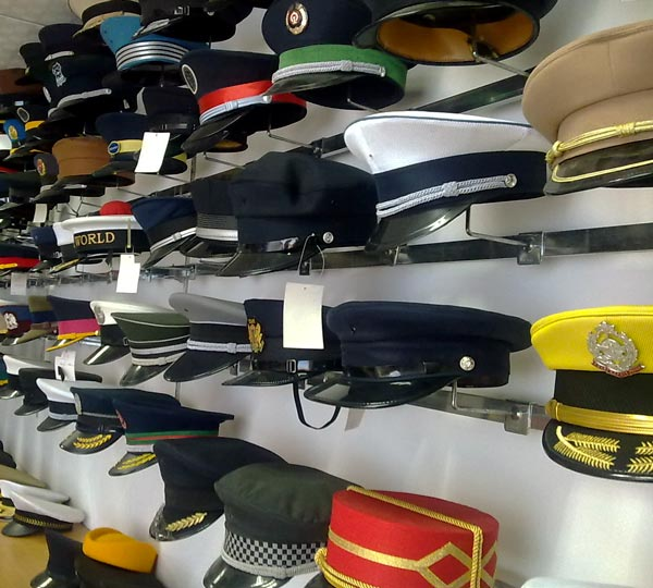 <B>General\'s  caps or captain\'s caps</B>
