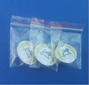 standaard plastic zakje voor pins of speldjes